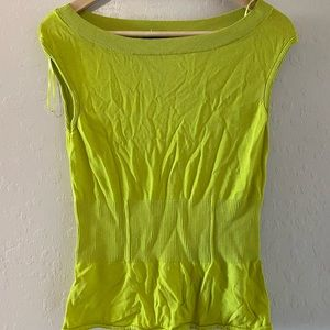 Ann Taylor lime green stretchy top
